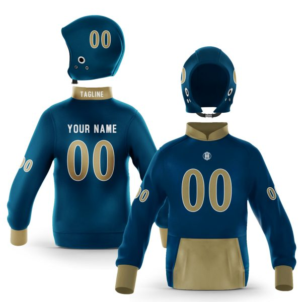 Miami Blue Gold Colorway Pullover