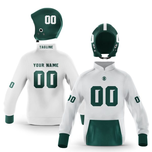East Lansing Green White Colorway Pullover