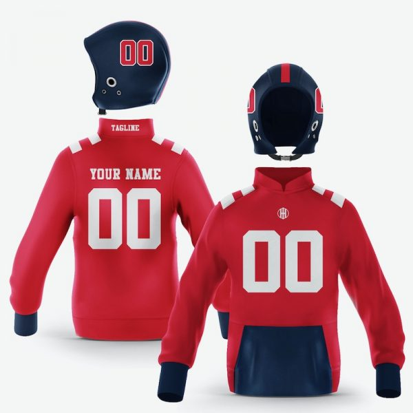 Oxford Red Navy Blue Colorway Pullover