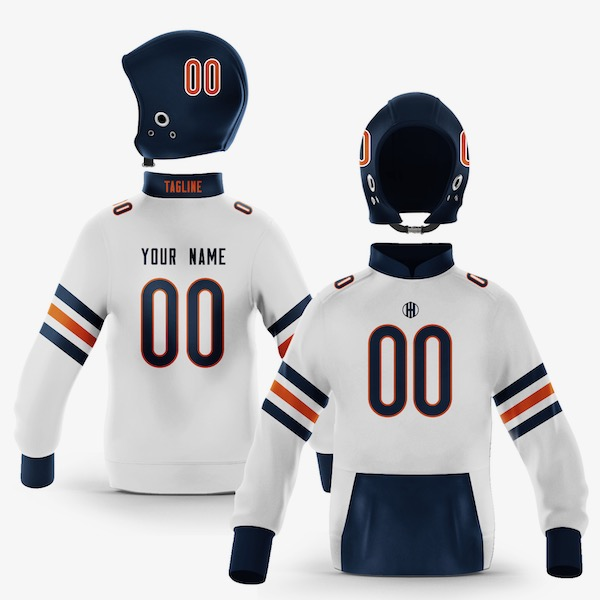 Chicago Navy Blue Orange Colorway Pullover
