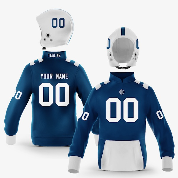 Indianapolis Blue White Colorway Pullover