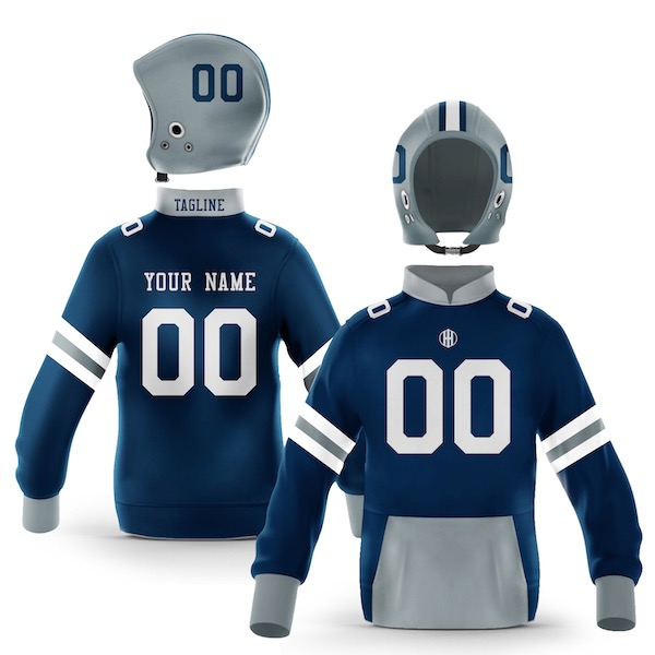 Dallas Blue Silver Colorway Pullover