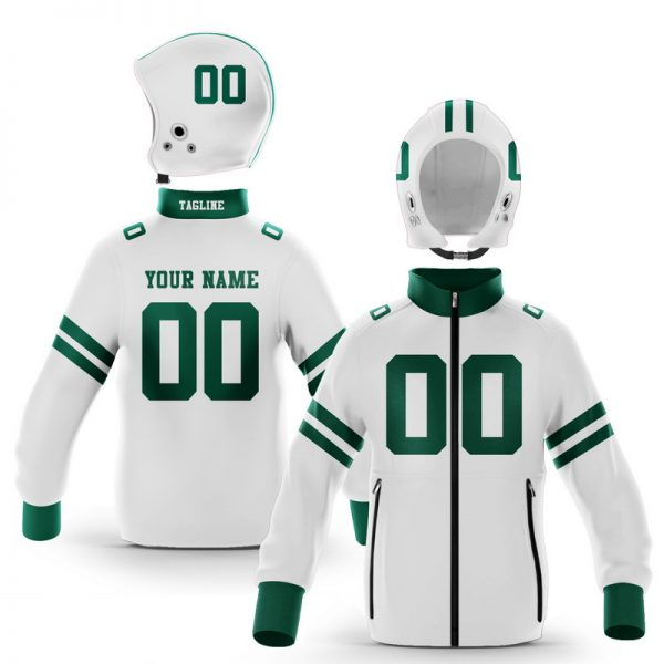 Athens Hunter Green White Colorway Zip-Up