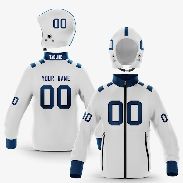 Indianapolis Blue White Colorway Zip-Up