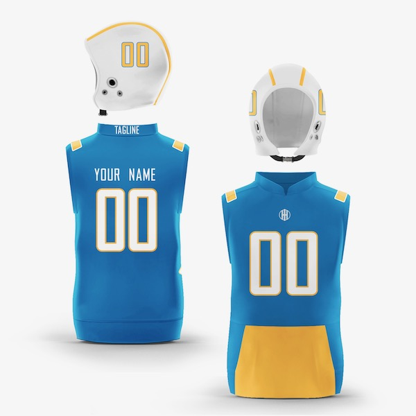 Los Angeles Gold Powder Blue Colorway Muscle