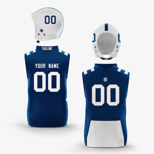 Indianapolis Blue White Colorway Muscle