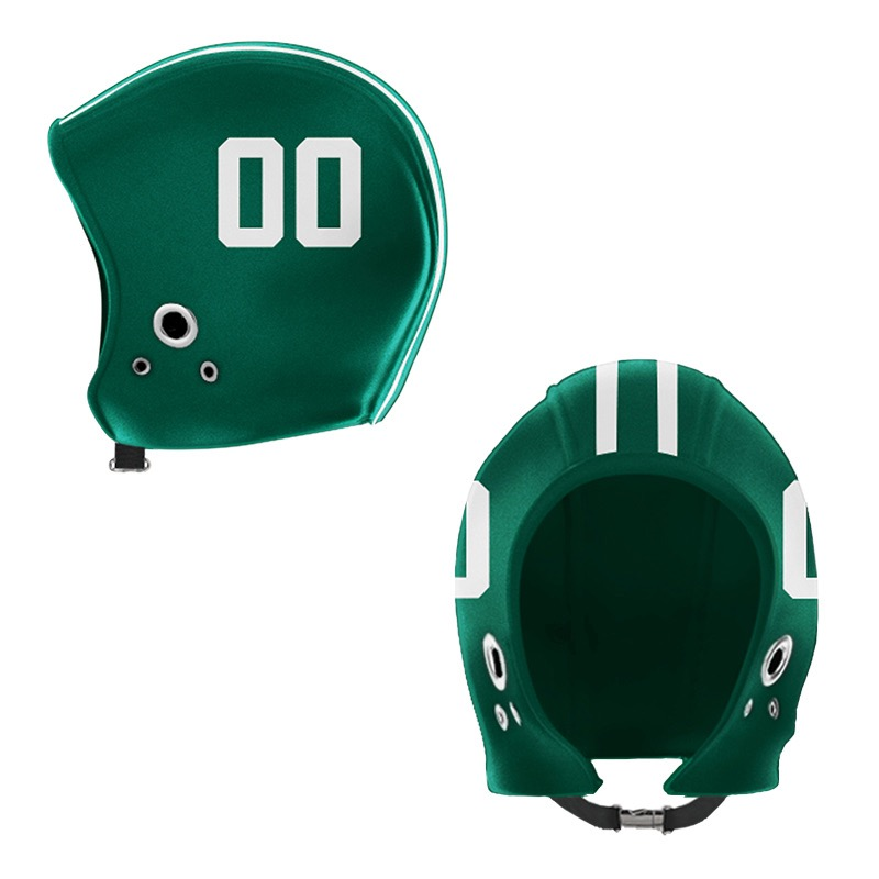 Athens Hunter Green White Hood