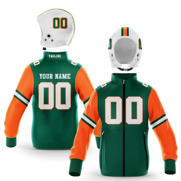 Miami Green Orange Zip-Up