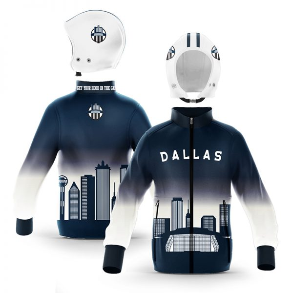 Dallas Blue Silver Skyline Zip-Up