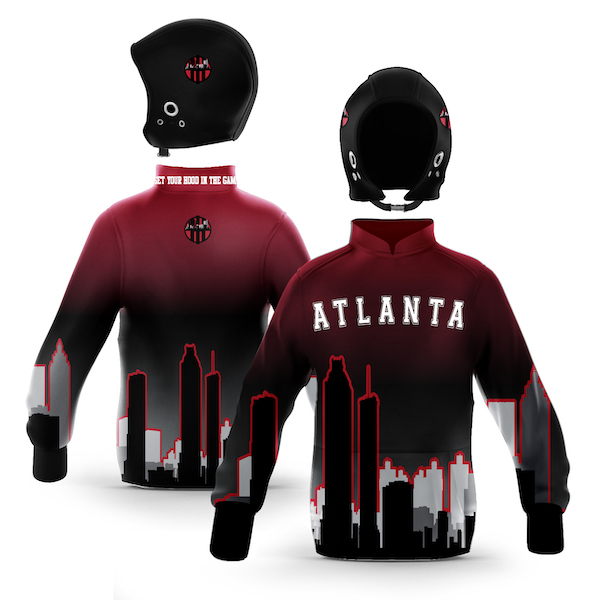 Atlanta Black Red Skyline Pullover