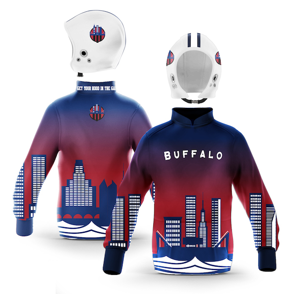 Buffalo Blue Red Skyline Pullover
