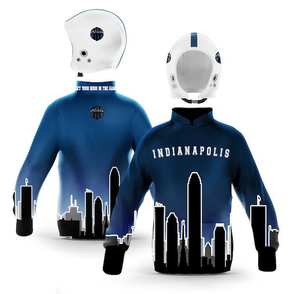 Indianapolis Blue White Skyline Pullover
