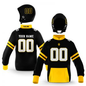 Boone Black Gold Pullover Hoodie
