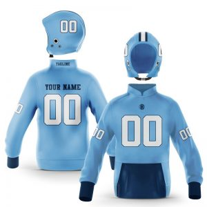 Chapel Hill White Blue Pullover Hoodie