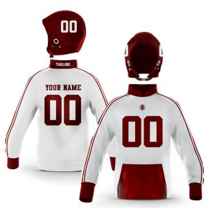 College Station Maroon White Pullover Hoodie