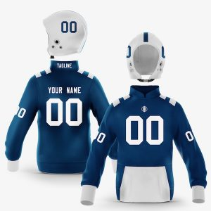 Indianapolis Blue White Pullover Hoodie