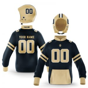 New Orleans Black Old Gold Pullover Hoodie
