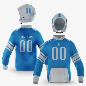 Detroit Blue Silver Pullover Hoodie
