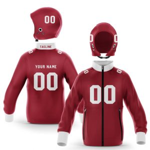 Fayetteville White Cardinal Zip Up Hoodie