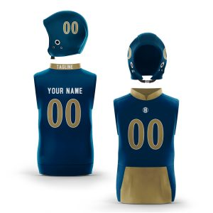 Miami Blue Gold Muscle Hoodie