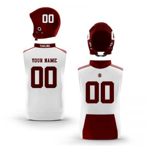 College Station Maroon White Muscle Hoodie