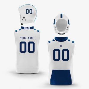 Indianapolis Blue White Muscle Hoodie