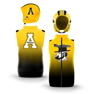 Appalachian State Mountaineers Gradient Color Muscle Zip-Up